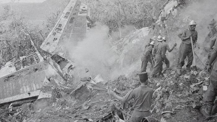 SITE DU CRASH DU BOEING 707 / Boeing 707 crash site
